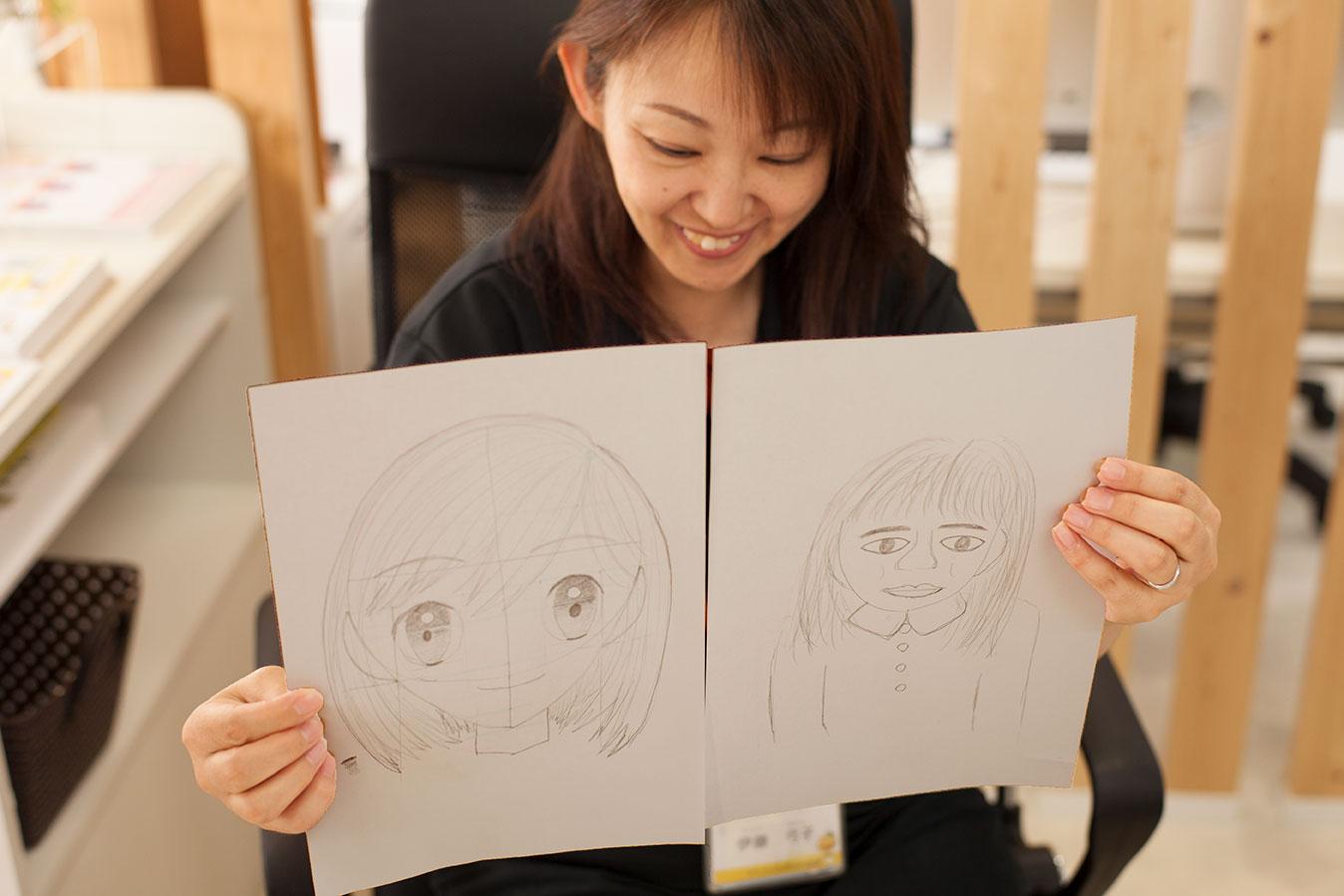 ビフォーアフターを実感して満足する事務スタッフの伊藤の写真