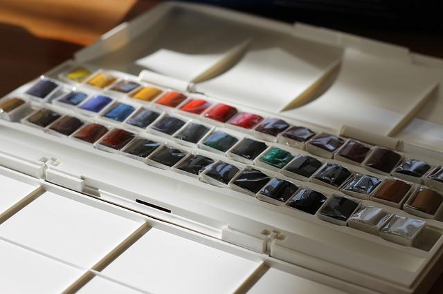 水彩絵の具の写真