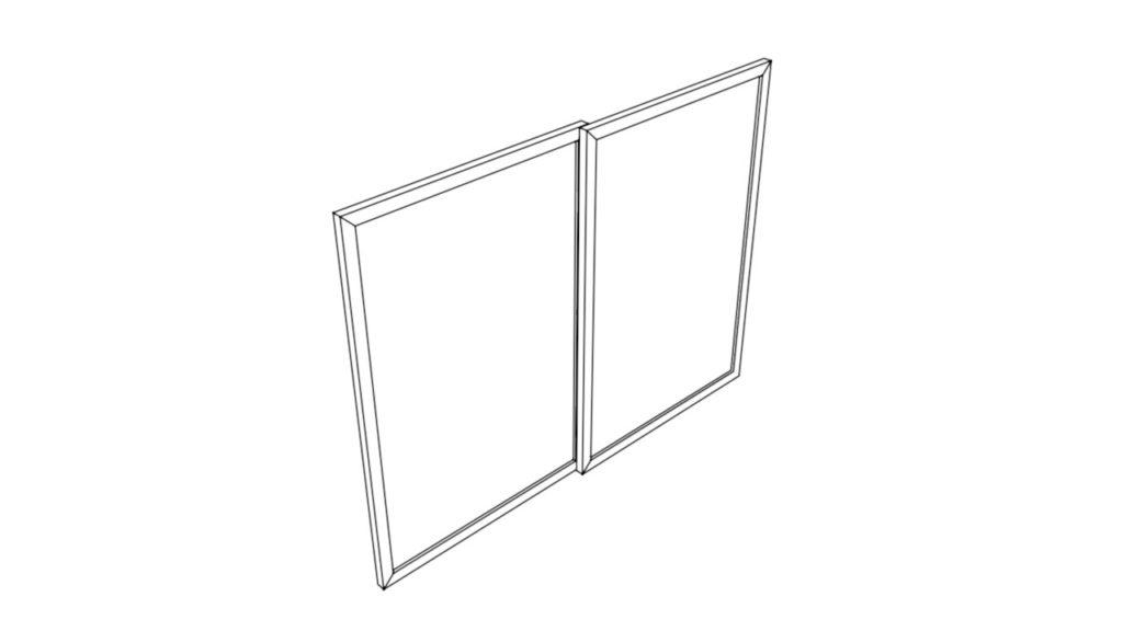 サッシ窓のイラスト