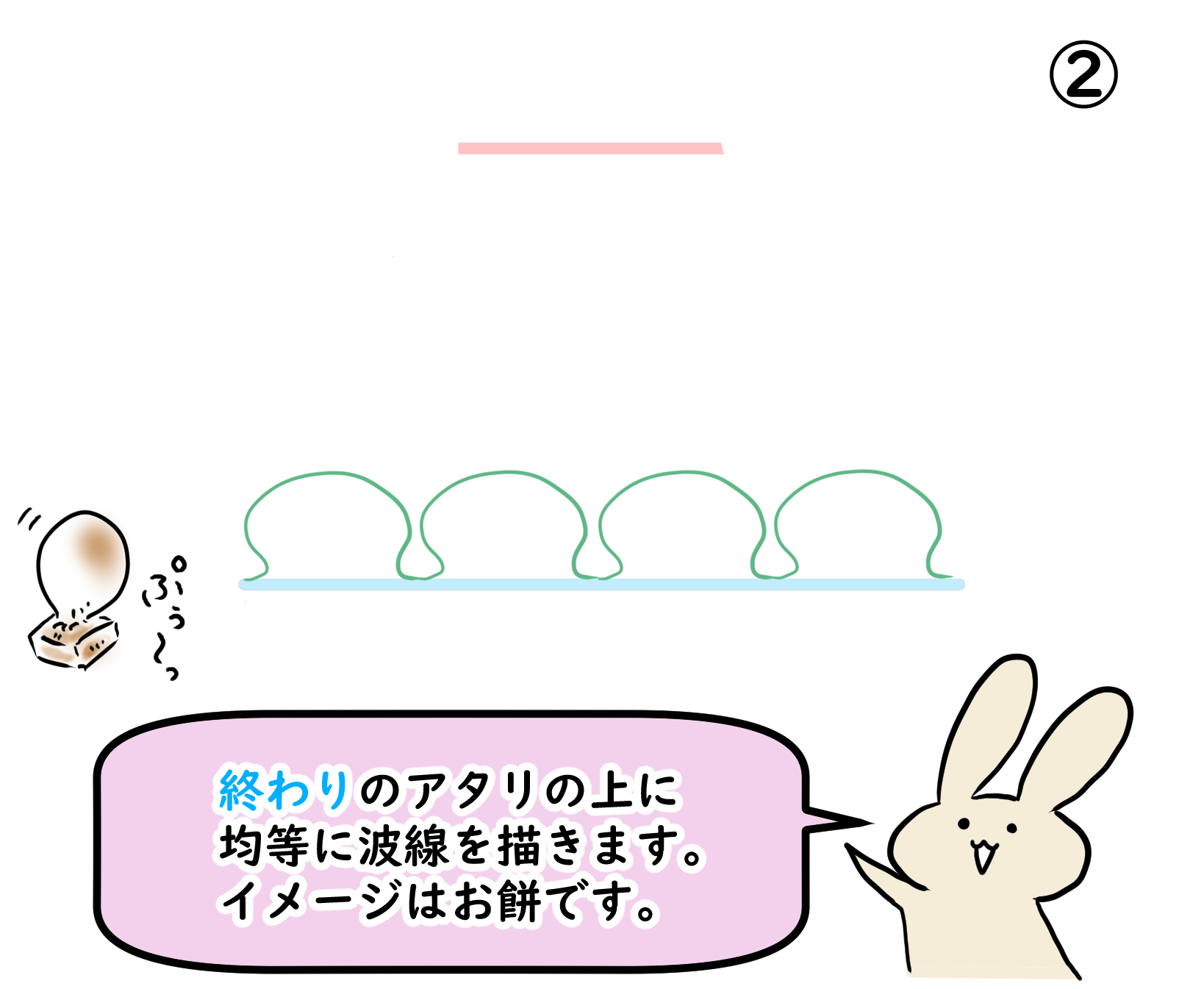 フリルの描き方 初級編③-2