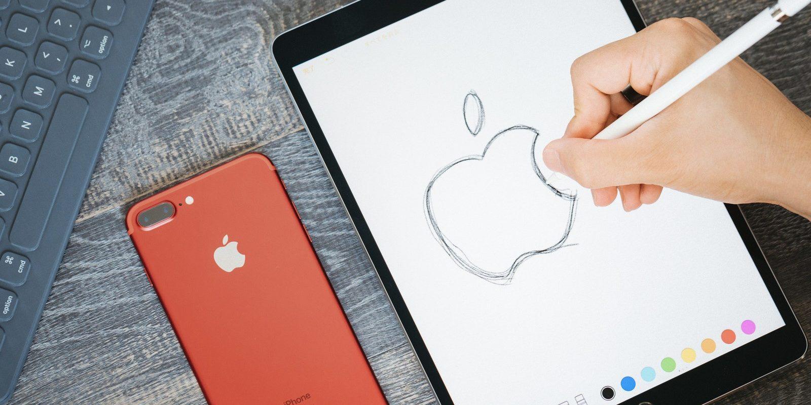 林檎マークをタブレットで模写する