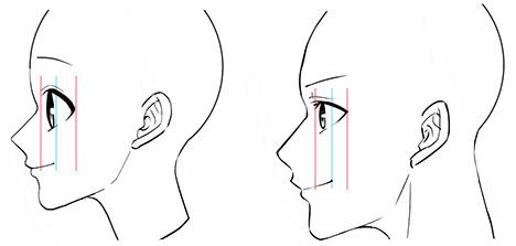 横顔の口の描き方