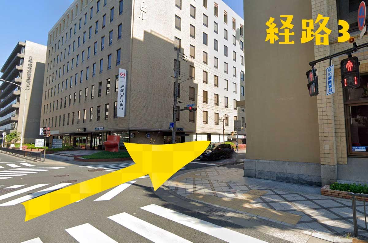 京都駅からイラスト・マンガ教室SMILESへの経路3