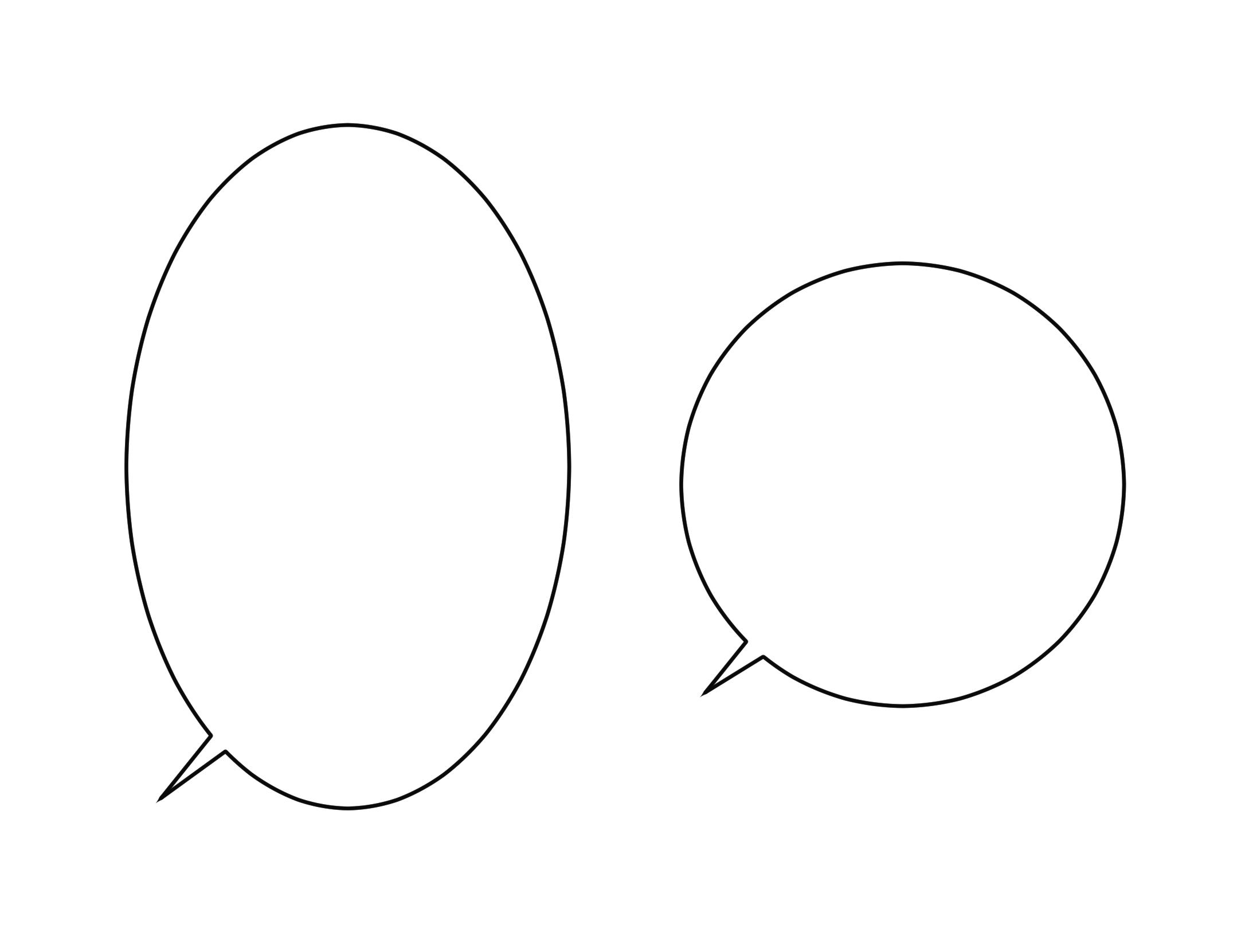 楕円吹き出しの画像