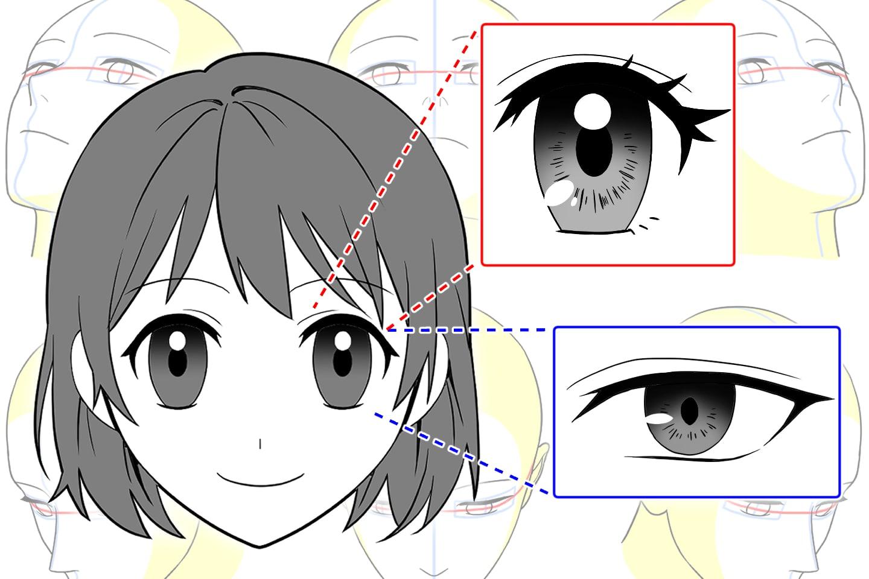 目の基本から応用までの描き方