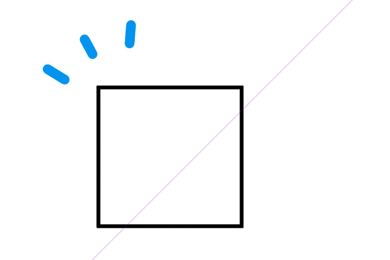 1点透視図法の描き方2
