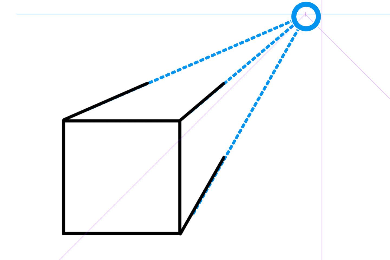 1点透視図法の描き方3