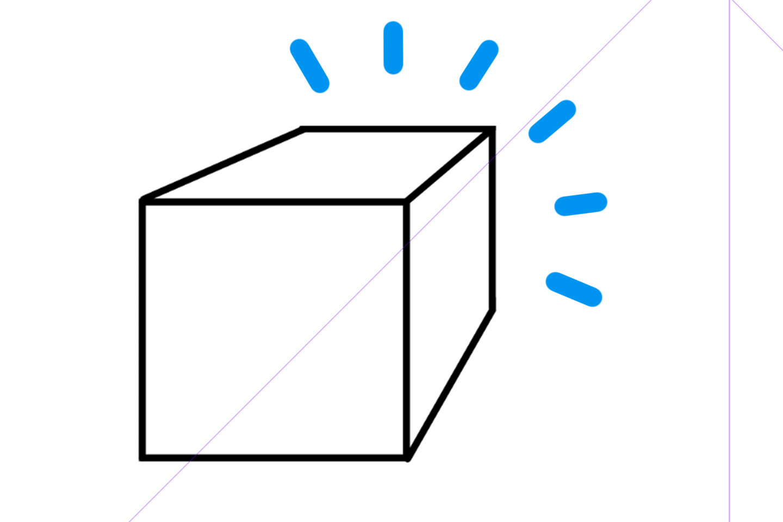 完成した立方体のイラスト