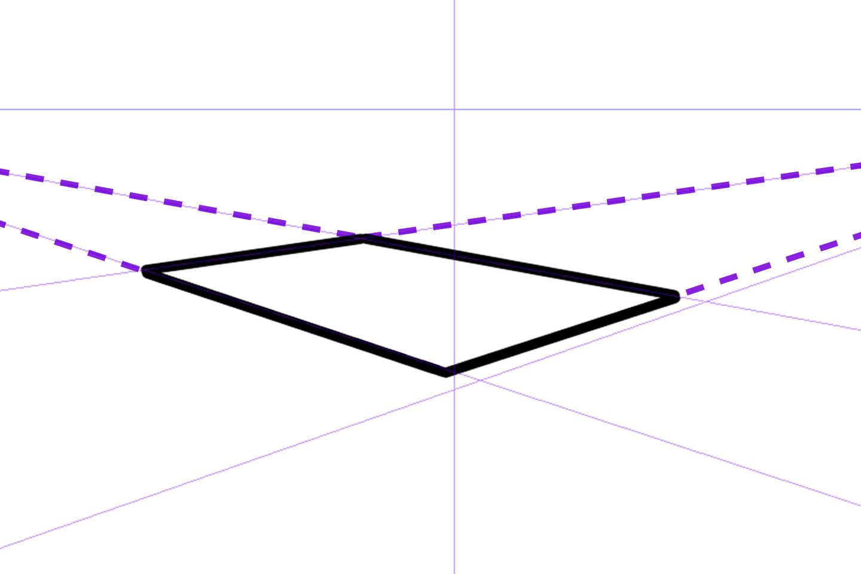 2点透視図法の描き方2