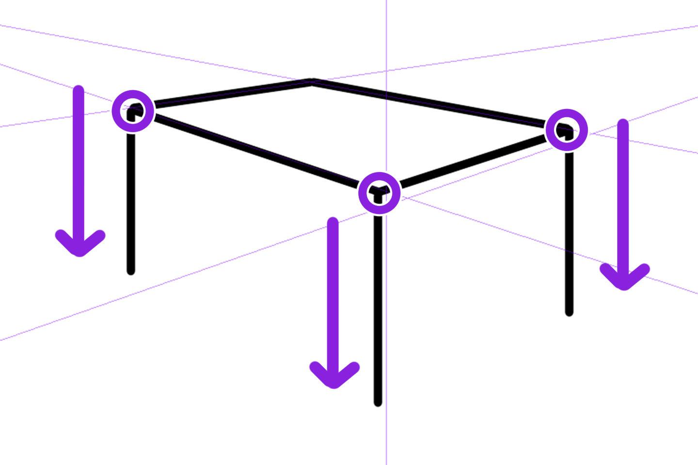 2点透視図法の描き方