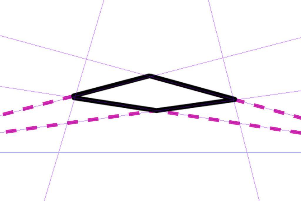 3点透視図法の描き方その2