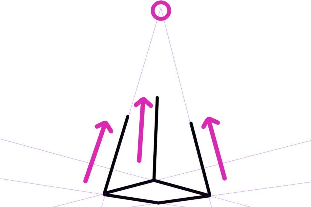 3点透視図法の描き方その3