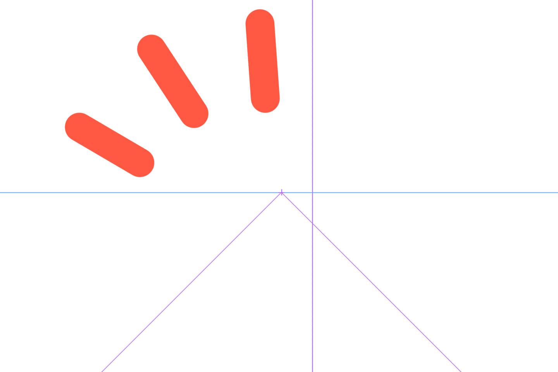 アイレベルや消失点が追加された図