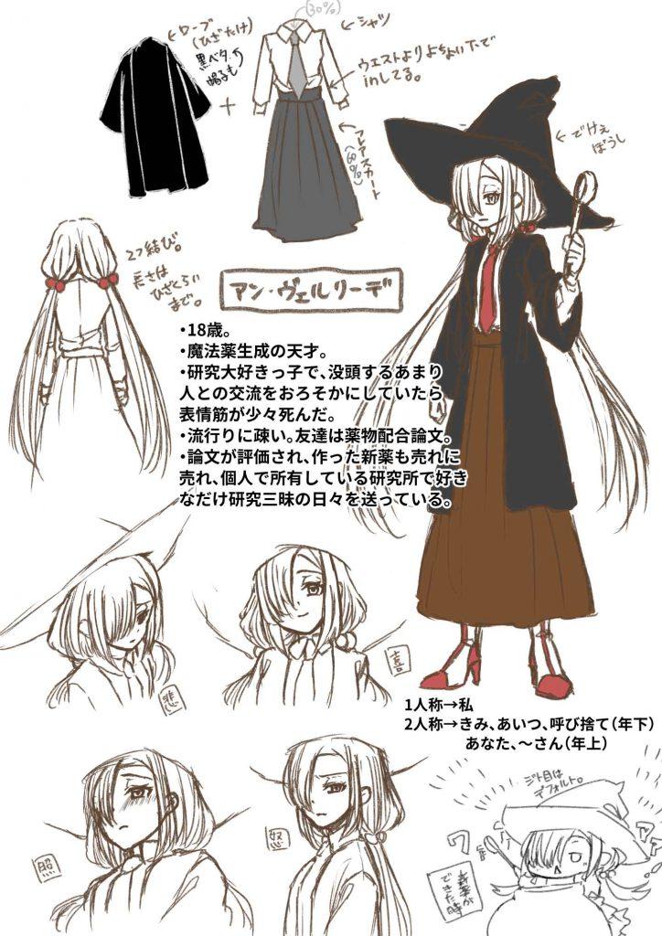サンプルのキャラクターデザイン