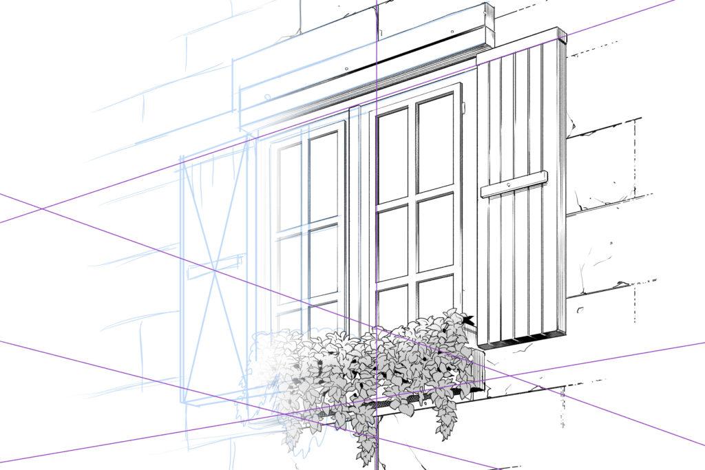 写真~手描きがグラデーションで変わるイラスト図解