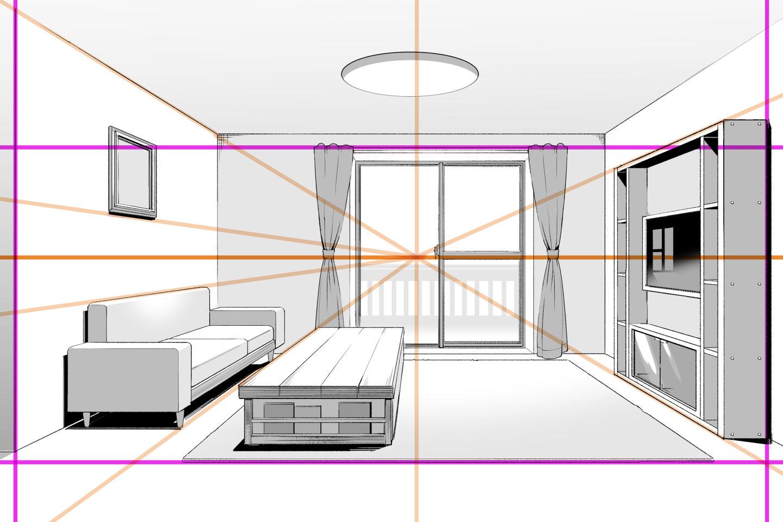 透視図法で背景上達!使い分け・描き方基本で正しいパースへ
