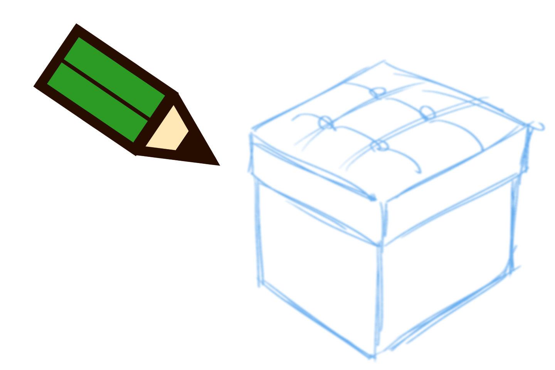 透視図法の描き方手順1