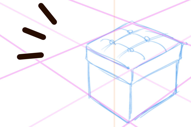 透視図法の描き方手順2