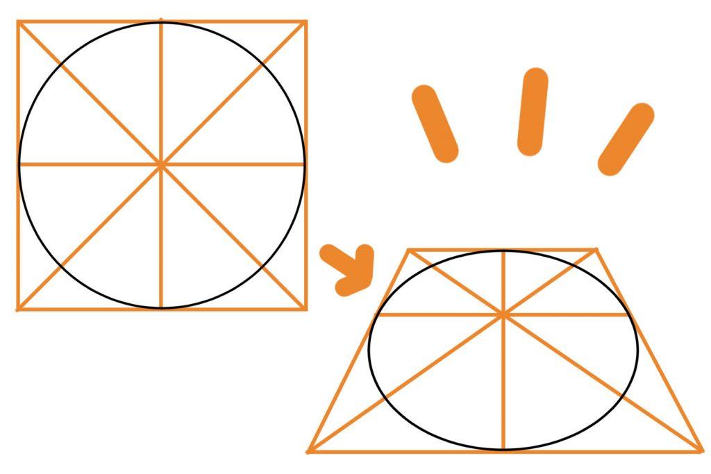 円のパースの描き方