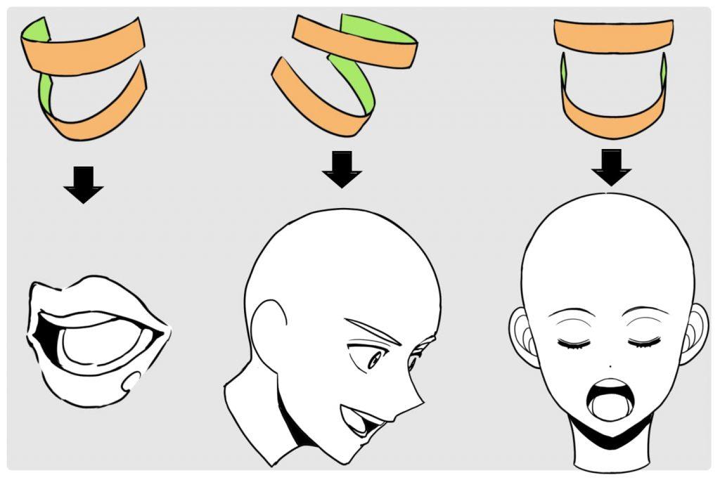 歯のアタリのとり方イラスト