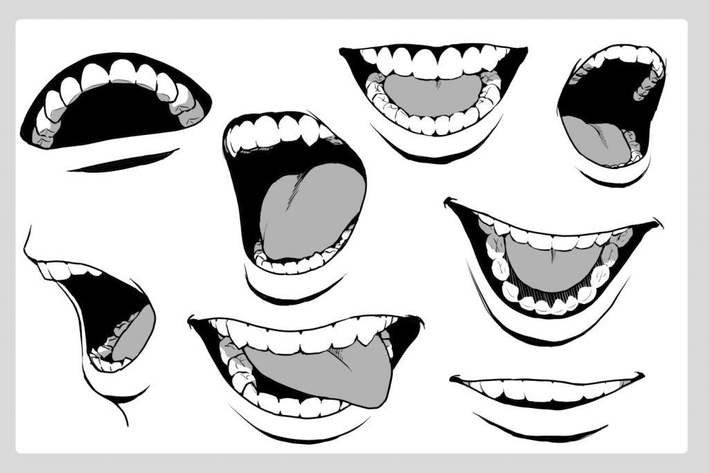 リアル系の歯の描き方例