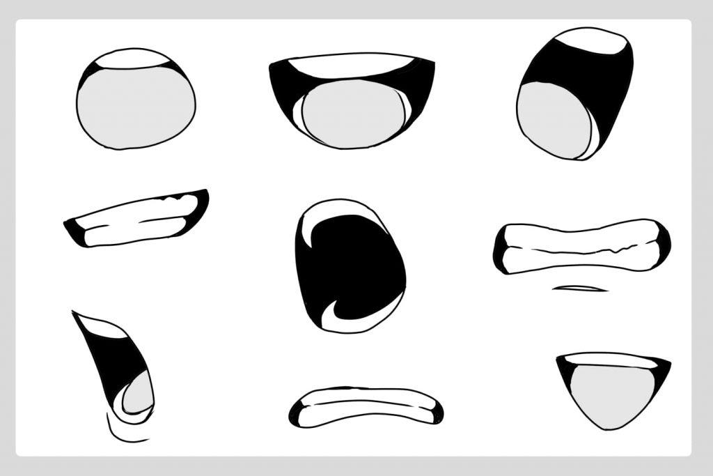 シンプル系の歯の描き方