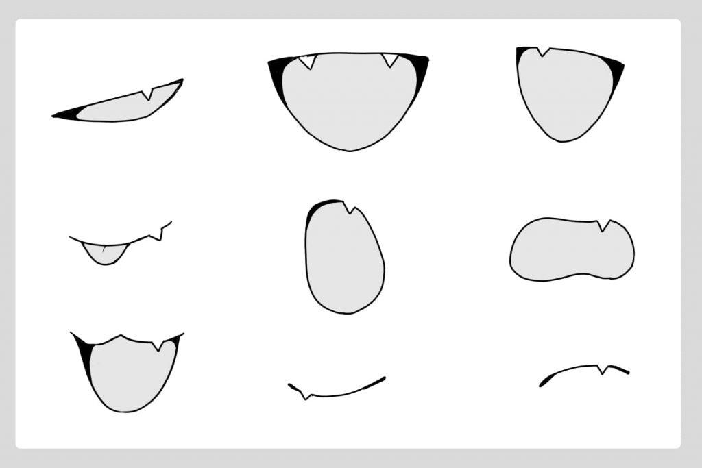 八重歯のイラスト