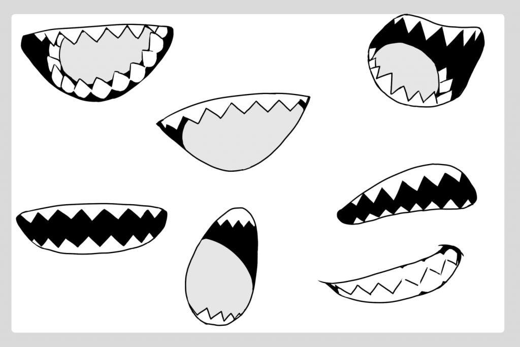 ギザギザ歯のイラスト