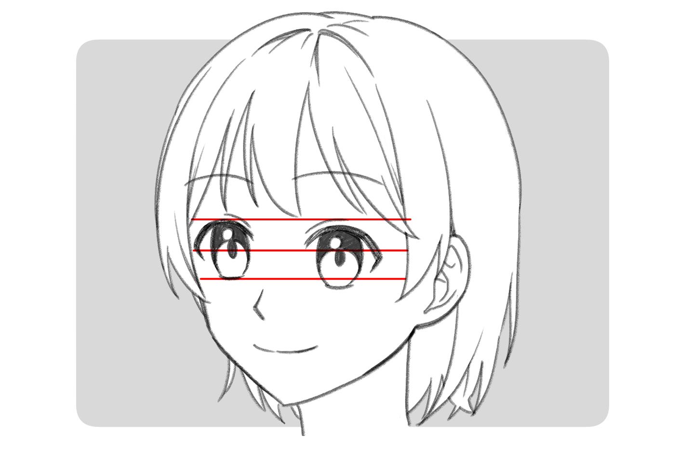 アタリを描くとわかる顔のイラストのゆがみ