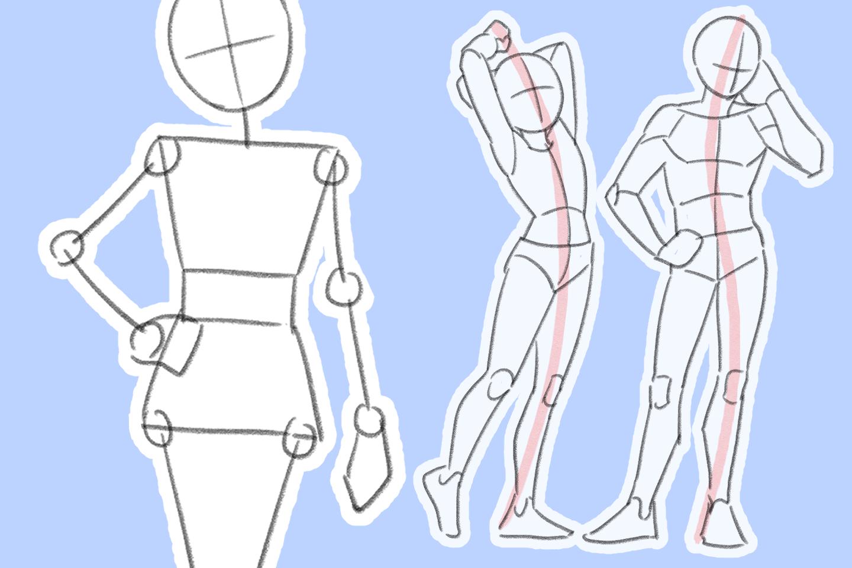 体のアタリの描き方はコツを掴めば劇的に上達する!初心者向け徹底解説