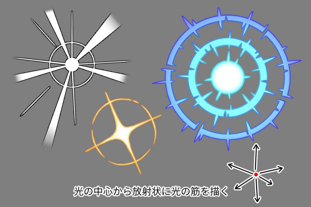 光エフェクトの描き方