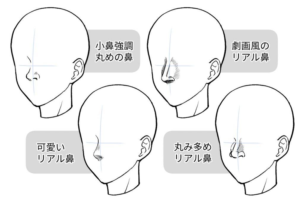 リアルな鼻を描く方法