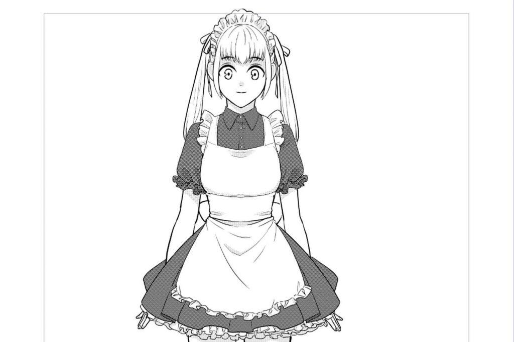 メイド服姿の女の子