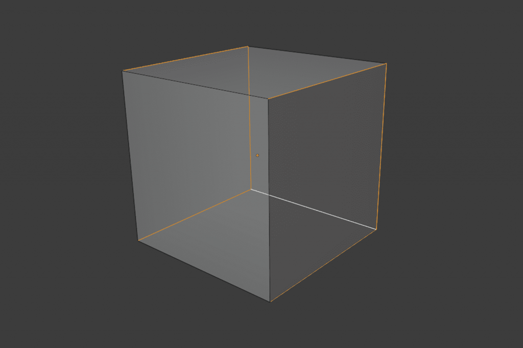 立方体のUV展開手順2