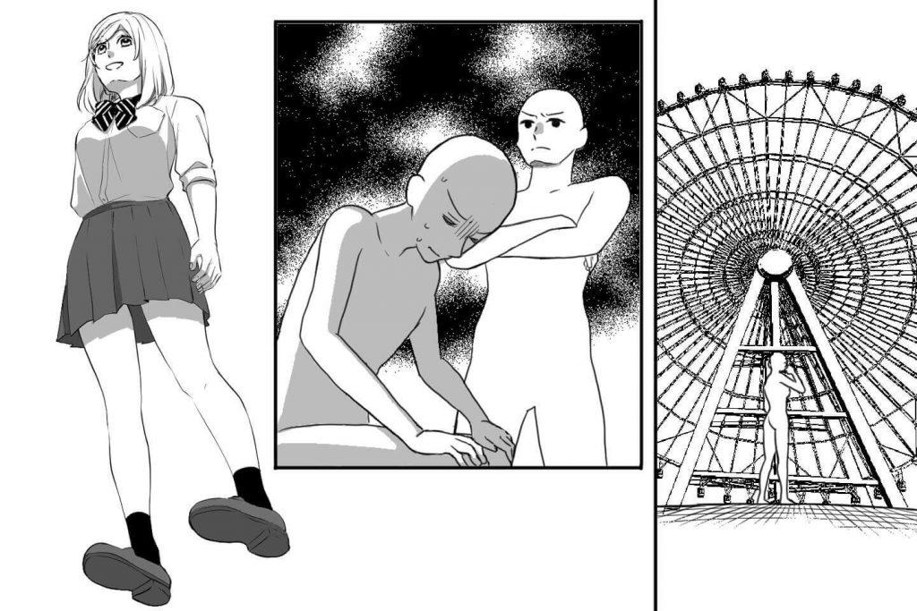 漫画のアオリの構図