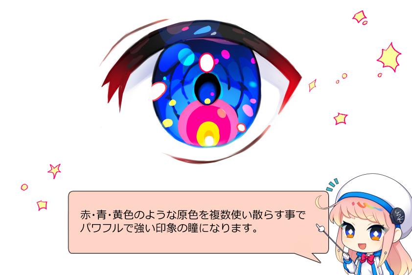 ビビットな目の塗り方