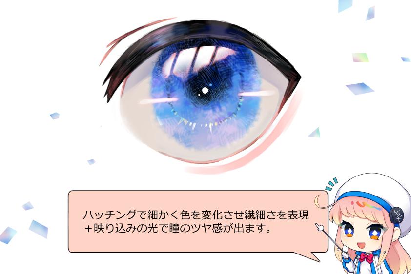 透明感のある目の塗り方